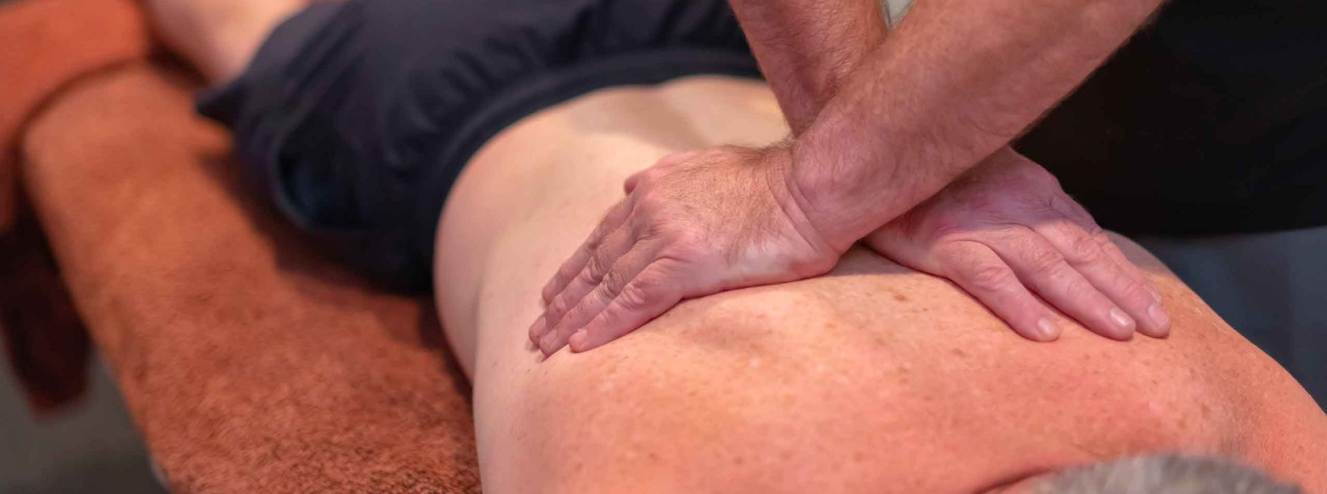 remedial massage on a mans back