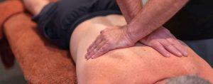 remedial massage on a mans back
